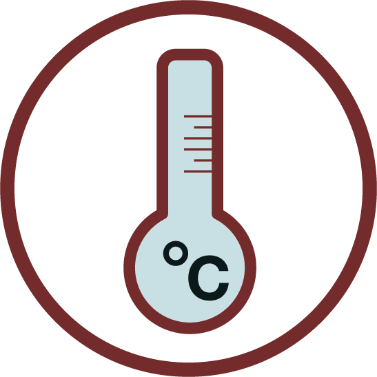 Proper ZEPZELCA Storing Temperature Thermometer Icon