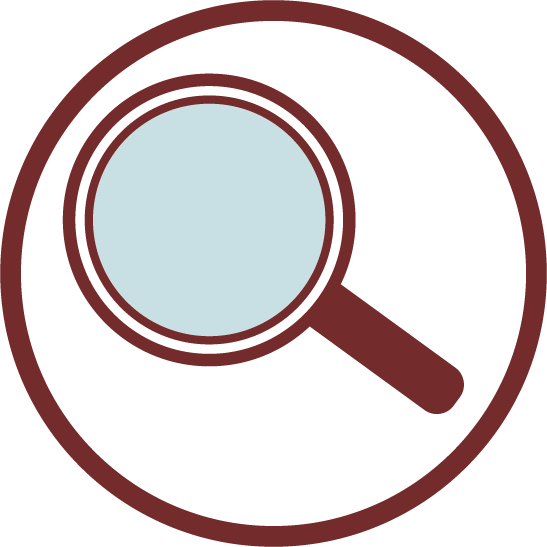 ZEPZELCA Solution Inspection Magnifying Glass Icon